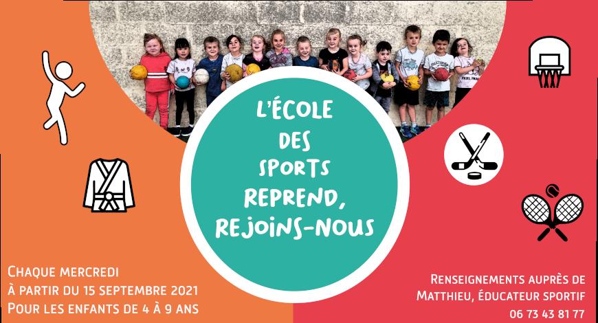 L'Ecole des sports : lancement des inscriptions